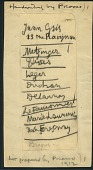 view List written by Pablo Picasso of European artists to be included in the 1913 Armory Show digital asset number 1