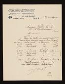 view Emile Druet, Paris, France letter to Walter Pach, Paris, France digital asset number 1