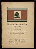 view Exhibit catalog for the <em>International Exhibition of Modern Art</em> at the Copley Society of Boston digital asset: cover