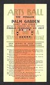 view Arts ball, the Penguin, Palm Garden ... gentlemen's ticket digital asset number 1