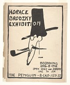 view Flyer for Horace Brodzky exhibition digital asset number 1