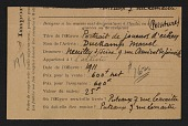 view Armory Show entry form for Marcel Duchamp&apos;s painting <em>Portrait of chess players</em> digital asset number 1