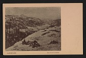 view Armory Show postcard with reproduction of a landscape painting by Ernest Lawson digital asset number 1