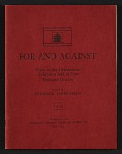 view For and against: views on the international exhibition held in New York and Chicago digital asset: cover
