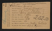 view Armory Show entry form for Georges Braque&apos;s painting <em>Anvers</em> digital asset number 1