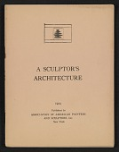 view A sculptor's architecture digital asset: cover