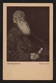 view Armory show postcard with reproduction of George Luks' painting <em>The philosopher</em> digital asset number 1