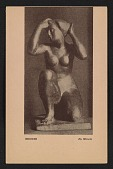 view Armory show postcard with reproduction of a bronze sculpture by Manolo digital asset number 1