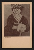 view Armory Show postcard with reproduction of Henri Matisse's painting <em>The red turban</em> digital asset number 1