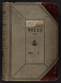 view Walt Kuhn scrapbook of press clippings documenting the Armory Show, vol. 1 digital asset: cover