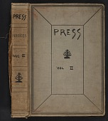 view Walt Kuhn scrapbook of press clippings documenting the Armory Show, vol. 2 digital asset: cover