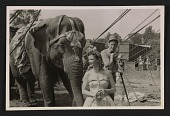 view Barnum & Bailey Circus performers and a show elephant digital asset number 1