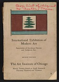 view Catalogue of the International Exhibition of Modern Art, the Art Institute of Chicago digital asset: cover