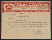 view Telegram to William Macbeth from M. O'Brien & Sons digital asset number 1