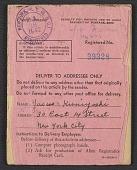 view Yasuo Kuniyoshi's alien registration certificate digital asset number 1