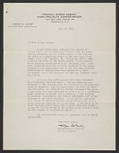 view Holger Cahill letter of reference for Yasuo Kuniyoshi digital asset number 1