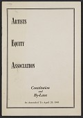 view Artists Equity Association constitution and by-laws digital asset: cover