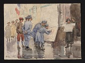 view Soldiers reading newspapers digital asset number 1
