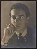 view Portrait of Marchal Landgren smoking digital asset number 1