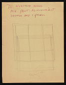 view Sketch of a window, annotated digital asset number 1