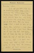 view Bernard Langlais letter to Aunt Isabell digital asset number 1