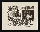view Bernard Langlais Christmas card to unidentified recipient digital asset number 1