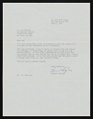 view Bernard Langlais letter to Leo Castelli digital asset number 1