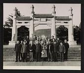 view Sherman E. Lee and members of the Art and Archaeological Delegation of the American Council of Learned Societies at the mausoleum of Sun Yat-sen digital asset number 1