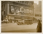 view The Camel cigarette sign blowing smoke rings, Broadway, New York City digital asset number 1