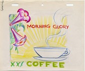 view Morning Glory coffee advertisement design digital asset number 1