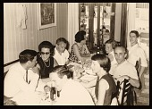 view Robert Rauschenberg, Leo Castelli and others at a dinner in Venice, Italy digital asset number 1
