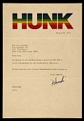 view Harry Anderson letter to Leo Castelli digital asset number 1