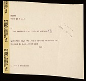view Robert Rauschenberg telegram to Leo Castelli digital asset number 1