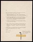 view Joseph Kosuth letter to Leo Castelli digital asset number 1