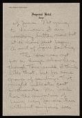 view Jasper Johns letter to Leo Castelli digital asset number 1