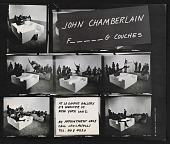 view Announcement for the exhibit <em>John Chamberlain F_ _ _ _ _ G couches</em> digital asset number 1