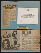 view Page of clippings from the Leo Castelli Gallery's artist file on Andy Warhol digital asset number 1