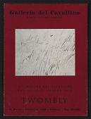 view <em>Twombly</em> catalogue from the Galleria del Cavallino digital asset: cover