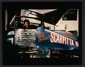 view Salvatore Scarpitta in his dirt track race car, no. 59 digital asset number 1