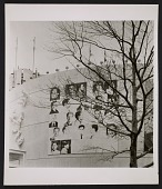 view Installation view of Andy Warhol's <em>Wanted Men</em> at the New York World's Fair digital asset number 1