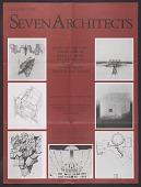 view <em>Architecture: Seven Architects</em> exhibition poster digital asset number 1