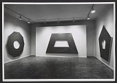view Installation view of a Frank Stella exhibition at the Leo Castelli Gallery digital asset number 1