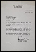 view Susan Relyea, <em>Art in America</em> letter to Elita Agee, Leo Castelli Gallery digital asset number 1