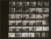 view Contact sheet of negatives showing Roy Lichtenstein and assistants with Greene Street Mural digital asset number 1
