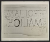 view Bruce Nauman, 'Drawing for Malice' digital asset number 1
