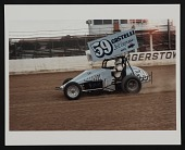 view Photograph of Salvatore Scarpitta racing his car at Hagerstown Raceway digital asset number 1