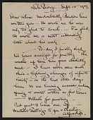 view Alfred Stieglitz letter to Aline Meyer Liebman digital asset number 1