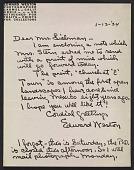 view Edward Weston letter to Aline Meyer Liebman digital asset number 1