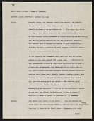 """view Dorothy Liebes papers digital asset: Transcript of Interview with Dorothy Liebes (Nancy Craig's radio show, """"Woman of Tomorrow"""")"""