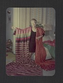 view Dorothy Liebes displaying two fabrics digital asset number 1